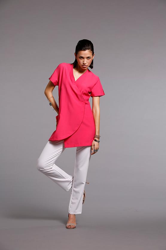 blouse esthétique fuchsia