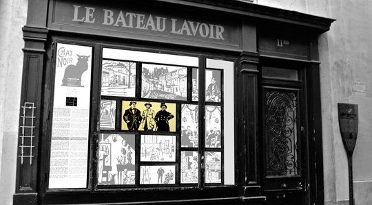 Devanture du Bateau Lavoir Montmartre 75018 Paris