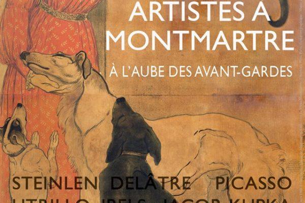 """Affiche """"Artistes à Montmartre"""", Musée de Montmartre 75018 Paris"""