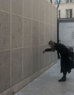 mur des noms memorial de la shoah